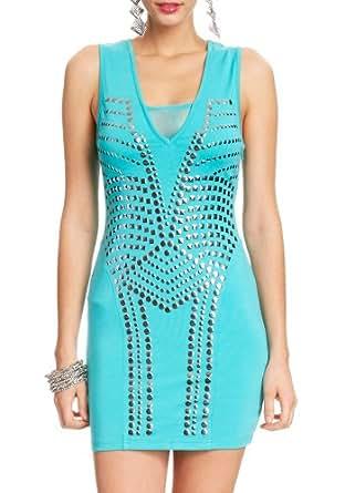 2B Mila Studded Ponte Dress 2b Night Dresses Aquamarine-xxs