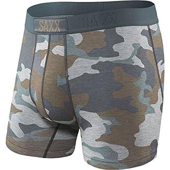418665bac Saxx Underwear Men s Vibe Boxer Underwear X-Small Grey Supersize Camo