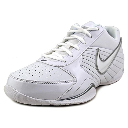 Low White Casual Shoes - Nike Mens Air Baseline Low Basketball Shoes-White/White-Metallic Silver-11