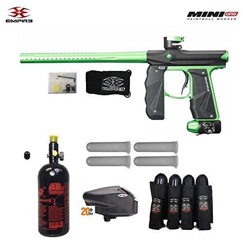 Empire Mini GS Advanced Paintball Gun Package Black/Neon Green Deal (Large Image)