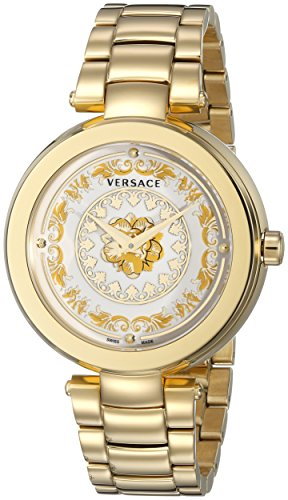 3592d42fe46 Versace Women s VQR030015 Mystique Foulard Analog Display Quartz Gold-Tone  Watch