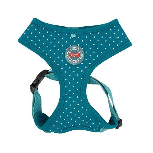 Puppia PARA-HA1529-TE-L Teal Dotty Harness II A Pet-Vest-Harnesses, Large