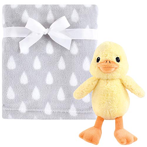 (Hudson Baby Unisex Baby Plush Blanket with Toy, Yellow Duck 2 Piece, One Size)