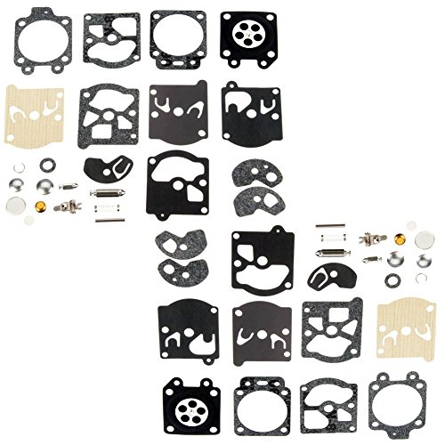Qazaky 2pc Carburetor Diaphragm Gasket Rebuild Repair Kit