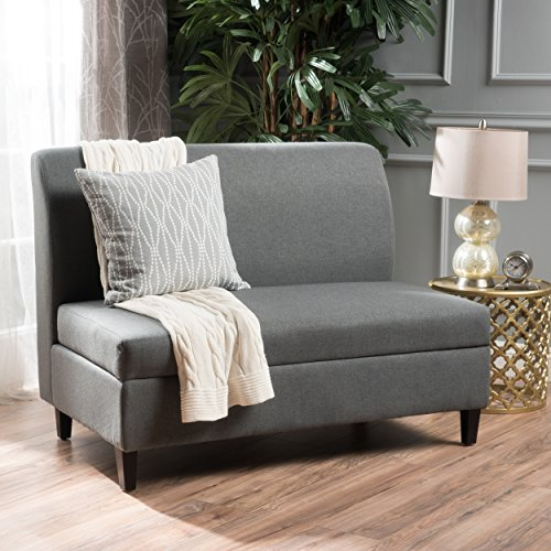 Christopher Knight Home 300784 Tovah Charcoal Fabric Storage Loveseat,