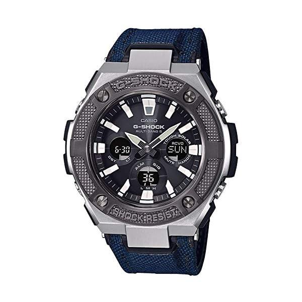 Casio Reloj Analógico-Digital para Hombre de Cuarzo con Correa en Tela GST-W330AC-2AER 2