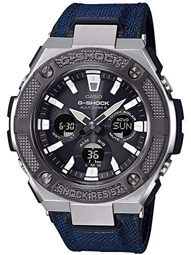 Casio Reloj Analógico-Digital para Hombre de Cuarzo con Correa en Tela GST-W330AC-2AER 1