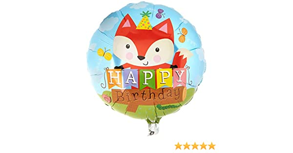 Multicolored Qualatex Foil Balloon 25176 Birthday Party Fox 18