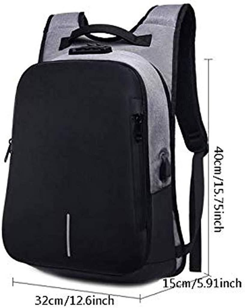 Unisex Lightweight Laptop Backpack for Men Women College Bookbag with USB Charging Port Fits 15.6 Inch Laptop and Notebook ZLVWB School Backpack
