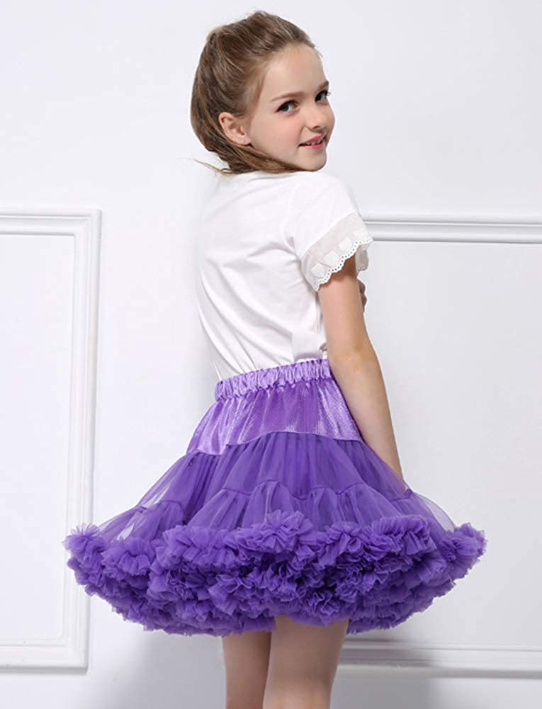 Adorel Little Girls Tulle Tutu Skirt Pleated A-Line Petticoat