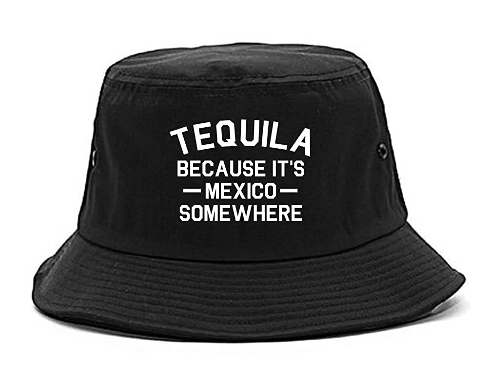 Amazon.com  Tequila Its Mexico Somewhere Bucket Hat Black  Clothing 042b130fc