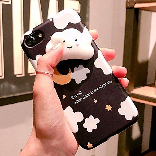 Mobiltelefonhülle - Für iPhone 6 & 6s Lovely Cloud Stars Moon Pattern Squeeze Relief Squishy Dropproof Schutzmaßnahmen zurück Fall Fall
