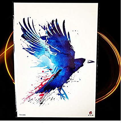 ruofengpuzi Adesivo tatuaggio21X15 Cm Pájaro Azul Búho Inteligente ...