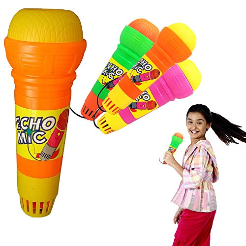 Echo Microphone - Pack of 12 Amazing Variety Kid's Party Mikes - Ideal for Themed Birthday Parties, Holiday Gifts, Party Favor Giveaways, BBQ s, Pretend Play, Graduations.. and much -