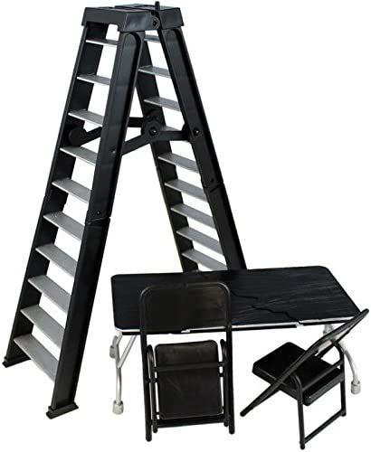 Black Ultimate Ladder /& Table Playset Ringside Exclusive Figure Accessories