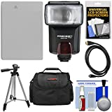Essentials Bundle for Canon Powershot G15, G16 & G1 X with NB-10L Battery + Flash + Case + Tripod + HDMI Cable + Accessory Kit