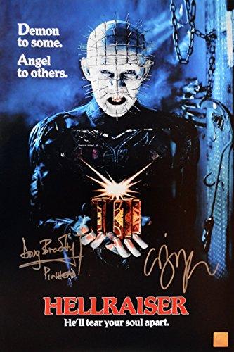 Clive Barker & Doug Bradley Autographed Hellraiser 11x17 Movie Poster (Hellraiser Autographed Poster)