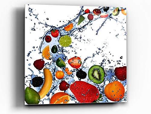 Cortesi Home Fruit Splash II Tempered Glass Wall Art, 12