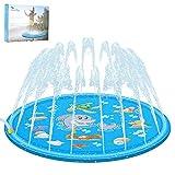 "Aitsite Sprinkle Play Mat 68"" Sprinkler for Kids Outdoor Water Toys Fun for Toddlers Boys Girls Children Outdoor Party Sprinkler Toy Splash Pad"