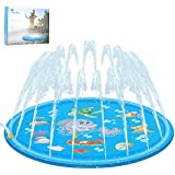 """Luchild Outdoor Sprinkle and Splash Water Play Mat 67"""" Garden Water Toys Play Sprinklers Summer Fun Backyard Play for Infants"""