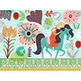 Horsey Love Canvas Art Color: Blonde, Size: 18'' H x 24'' W x 1.5'' D