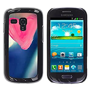Paccase / SLIM PC / Aliminium Casa Carcasa Funda Case Cover - Love Pink Love - Samsung Galaxy S3 MINI NOT REGULAR! I8190 I8190N