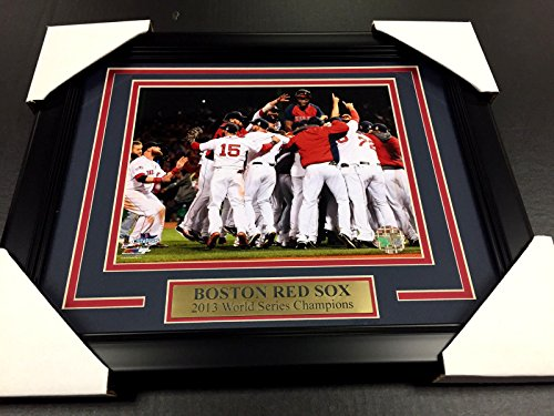 2013 BOSTON RED SOX WORLD SERIES CHAMPIONS DAVID ORTIZ 8X10 FRAMED PHOTO