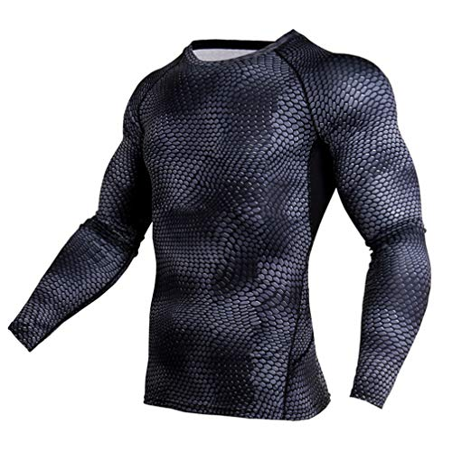 Lin Single Breasted Blazer - RYG.UY Running Set Compression Tights Men Long Sleeve T-Shirt Men's Sportwear for Gym Jogging Suit Fitness Sport Suits Clothing Snake lin top XL