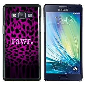 Dragon Case - FOR Samsung Galaxy A5 A5000 A5009 - rawr purple text leopard pattern fur - Caja protectora de pl??stico duro de la cubierta Dise?¡Ào Slim Fit