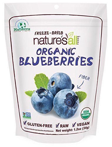 Natierra Nature s All Foods Organic Freeze-Dried Blueberries, 1.2 Ounce