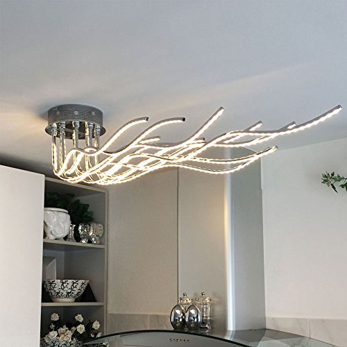LICHT-TREND Sculli / LED-Deckenleuchte / 2800 Lumen / 150 cm / Chrom