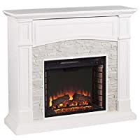 Pemberly Row Faux Stone Electric Firepla...