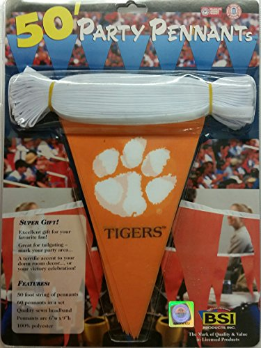 NCAA Clemson Tigers 50 Foot Party Pennant (Tigers Party Pennant Flags)