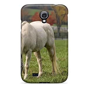 Awesome Horse Eating Grass Flip Case With Fashion Design For Galaxy S4