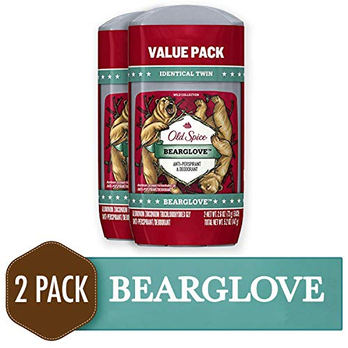 Spices Bedroom Collection - Old Spice Wild Collection Invisible Solid Antiperspirant and Deodorant, Bearglove, 2 Count