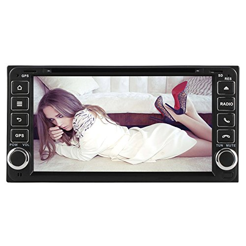 """YINUO 6.95"""" Car DVD Player GPS Stereo for Toyota Rav4 Corolla Vitz Echo Corolla Ex In Dash Navigation Receiver with 800480 HD Touchscreen support SWC 3G DVR AV-IN with Free Mic & 8GB Map Card"""