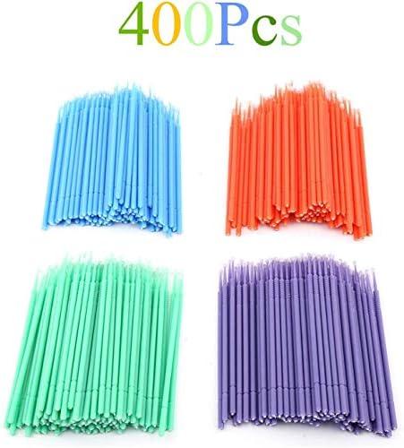 400 unids Micro Aplicador Cepillo Cepillos Dentales Coloridos Almohadillas Dentales Aplicadores Desechables Micro Cepillo Equipo Dental Para Maquillaje Oral Y Dental