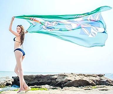 6fdfb480d72a TopSeller Sexy Womens Chiffon Bikini Summer Beach Swimwear Sarong Wrap  Cover Dress Scarf Pareo (Green) at Amazon Women s Clothing store