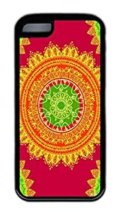 India Texture Lovely Mobile Phone Protection Shell For iPhone 5c Cases - Unique Cool Black Soft Edge Case by icecream design