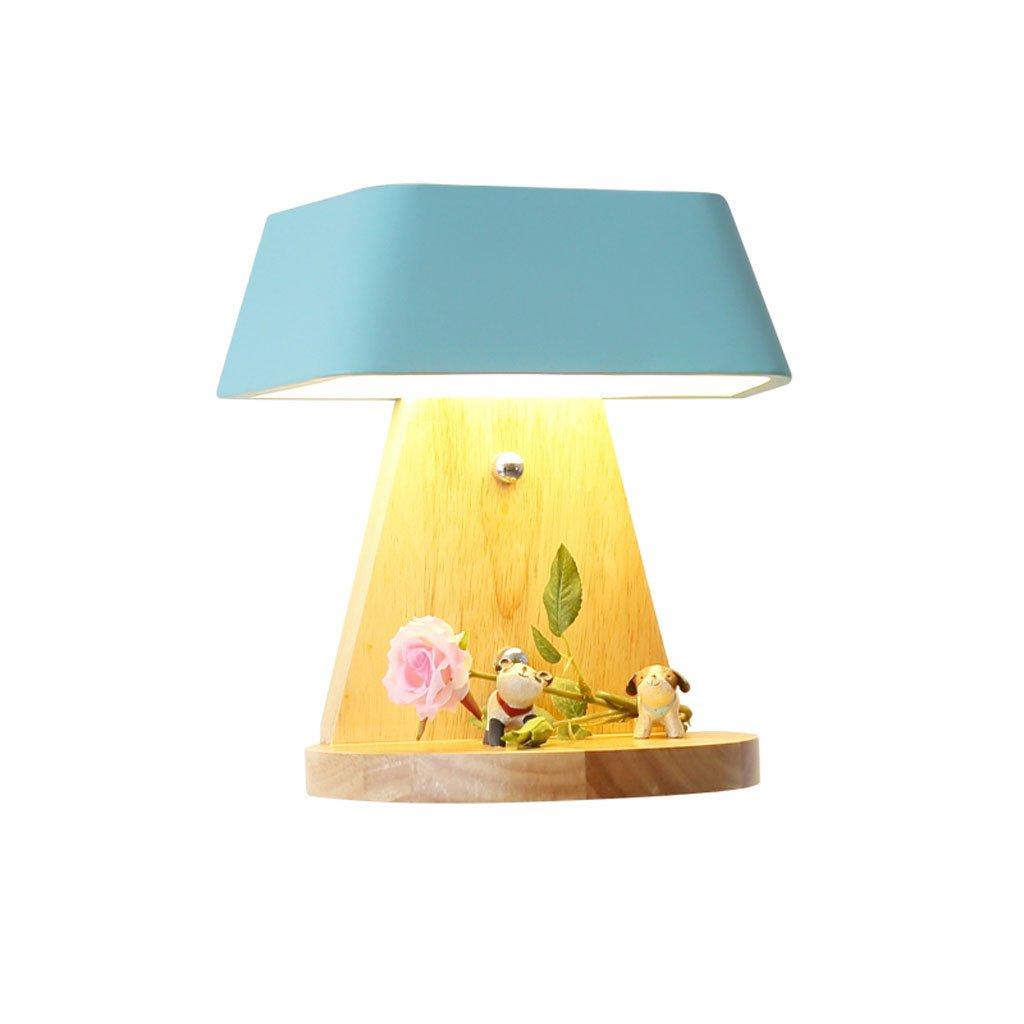 Unbekannt HUYP LED Schlafzimmer Wandleuchte Einfache Moderne kreative Kinderzimmer Wohnzimmer Lampe (Farbe : Blau)