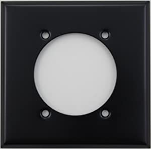 Black Two Gang Wall Plate for One Dryer/Electric Range Electrical Outlet