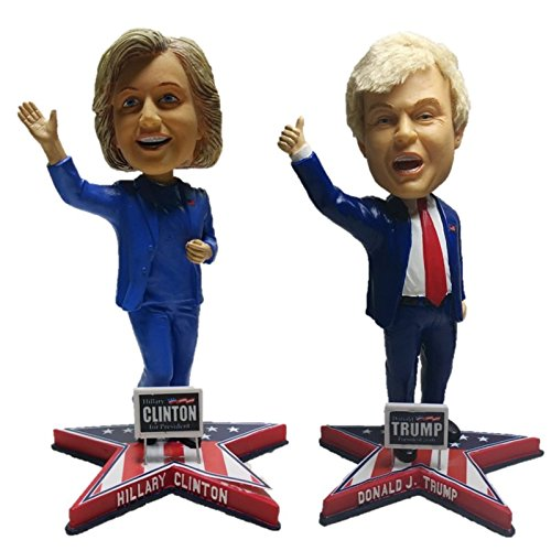 Hillary Clinton and Donald Trump for President 2016 Presidential Limited Edition Bobblehead Set