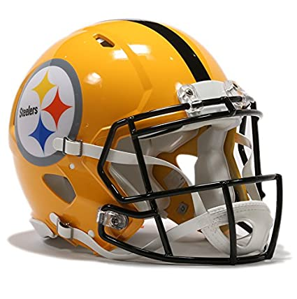 Etiqueta NFL Throwback Riddell velocidad casco de fútbol, Pittsburgh Steelers