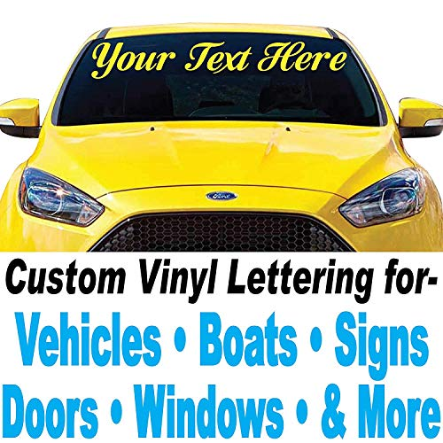 """1060 Graphics 4"""" High by Up to 48"""" Long-Custom Vinyl Lettering-Sold Per Line-Letters Numbers Text Decal for Auto Boat Door Window Sign & More - Text"""