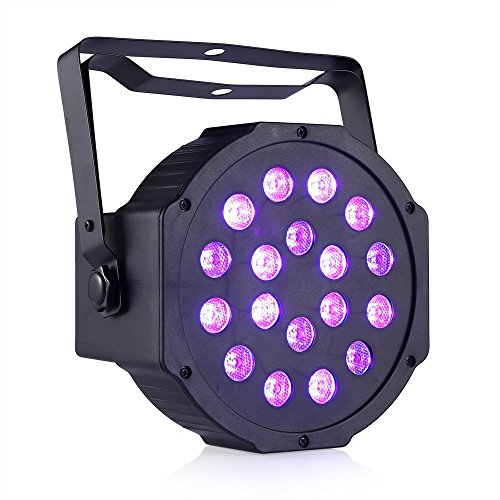 DeepDream 18W UV Black Light DJ Stage Light Par Lamp Auto Lighting Voice Control for Party Wedding Disco Club with Control by Deep Dream (Image #1)