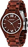 OLIVER REDMONT Wooden watch from genuine sandalwood | Exclusive wooden gift packaging (RED EDITION)