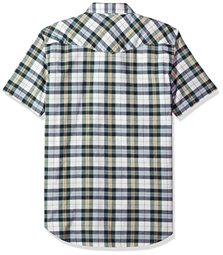 Lucky Brand Men's Short Sleeve Plaid Western Button Down Shirt in Green Multi, Natural/Green, XL by Lucky Brand (Image #2)