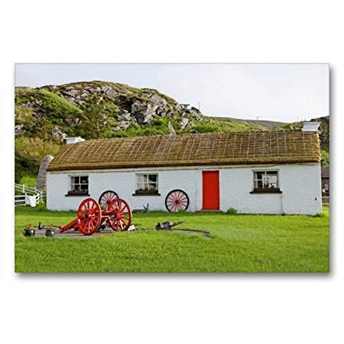 Premium Textil de lienzo 45cm x 30cm libre Horizontal Luz Museum, Glen colu mbkille, 90x60 cm por Siegfried Kuttig