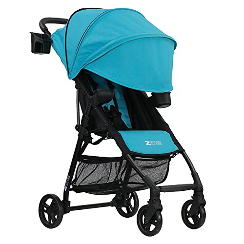 ZOE XL1 BEST v2 TANDEM Lightweight Travel & Everyday Umbrella Stroller System (Aqua)