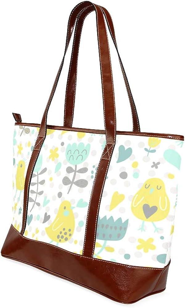 Tote Bags Cute Funny Chiken Flowers Bright Summer Travel Totes Bag Fashion Handbags Shopping Zippered Tote For Women Waterproof Handbag